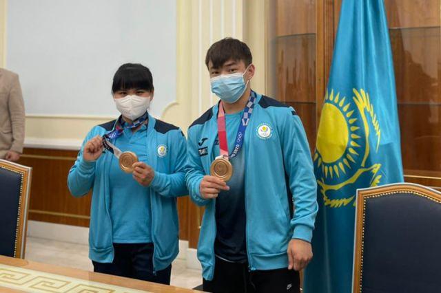 Жетысуских призеров Олимпиады в Токио встретили всем Казахстаном
